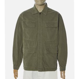 Universal Works MW Needle Cord Fatigue Jacket - Bright Olive