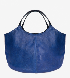 Pillow  Leather Bag in Cobalt by Penelope Chilvers