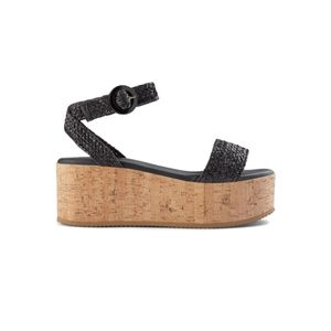 SHOE THE BEAR Begonia Leather Ankle Strap Sandals - Black