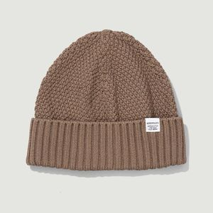 Moss cotton beanie Taupe Norse Projects