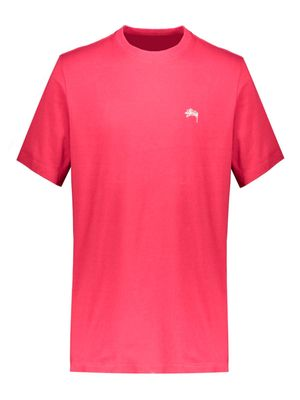 STUSSY MEN'S 1140241RED RED COTTON T-SHIRT
