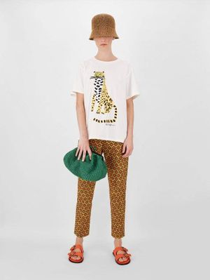 Weekend Max Mara LIBIA Cheetah White T-Shirt 59710211600