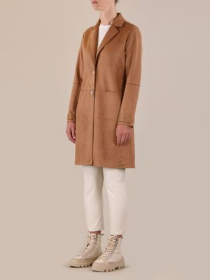 Rino & Pelle BABICE Faux Suede Coat Toasted Nut