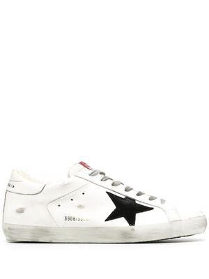 GOLDEN GOOSE MEN'S GMF00101F00058110283 WHITE LEATHER SNEAKERS