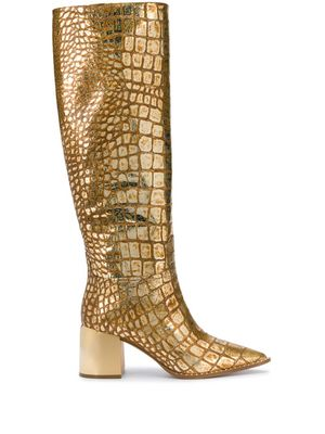 CASADEI WOMEN'S 1S063R0601C08651505 GOLD LEATHER BOOTS