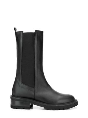 VIA ROMA 15 WOMEN'S 3463MALIBUBLACK BLACK LEATHER BOOTS