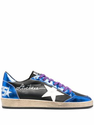 GOLDEN GOOSE MEN'S GMF00117F00038580341 BLUE LEATHER SNEAKERS