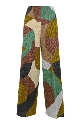 CIRCUS HOTEL WOMEN'S H1SN12CH029 MULTICOLOR COTTON PANTS