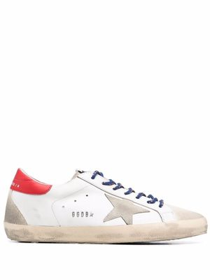 GOLDEN GOOSE MEN'S GMF00102F00209210779 WHITE LEATHER SNEAKERS