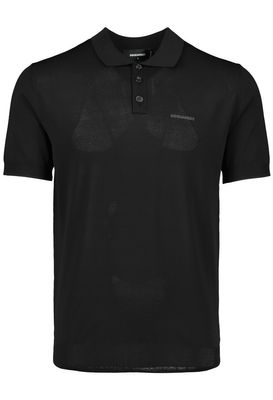 Mens Dsquared2 Knitted Polo Shirt