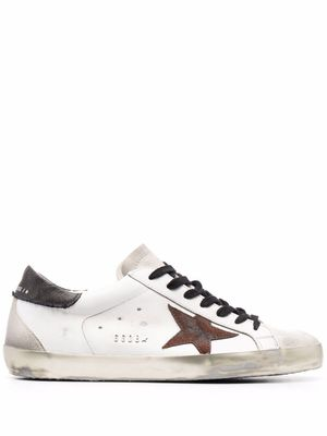 GOLDEN GOOSE MEN'S GMF00102F00214910795 WHITE LEATHER SNEAKERS
