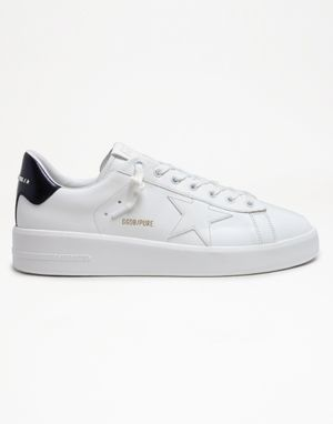 Men's Pure Star Laminated Heel Leather Sneaker