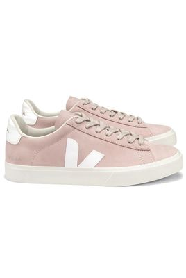 Campo Nubuck Trainers - Babe White