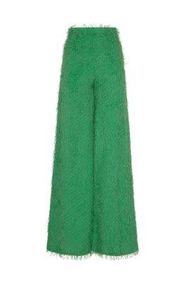 CAROL WIDE TROUSERS IN GREEN FIL COUPE'