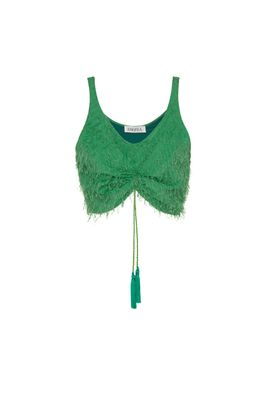 KATE CROP TOP IN GREEN FIL COUPE'