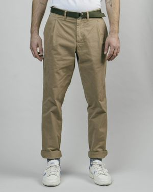 Pleated Chino Camel