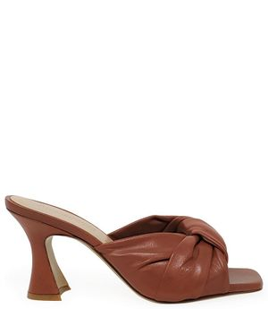 Madison Maison by Giampaolo Viozzi Brown Knot Mule
