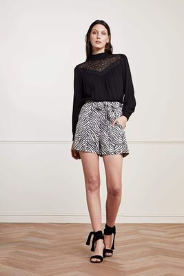 Fabienne Chapot Black and White Olivia Shorts