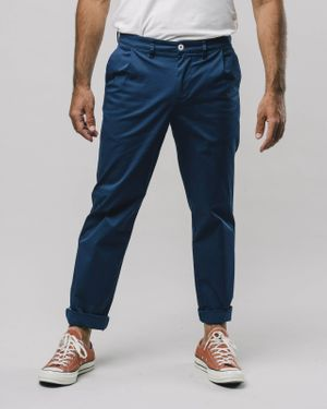 Pleated Chino Pants Navy