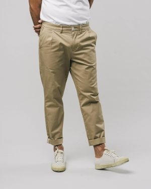 Pleated Chino Pants Beige