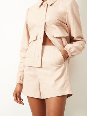 Cagney Leather Short Buttermilk