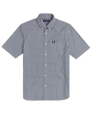 Fred Perry Vichy SS shirt M9604 - Carbon Blue