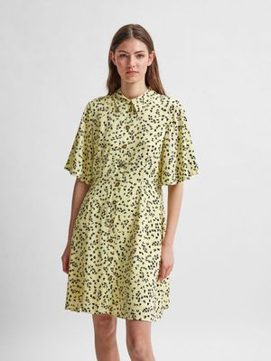 Selected Femme Shirt Dress - Young Wheat
