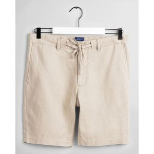 GANT - Relaxed Fit Linen Drawstring Shorts In Dry Sand 205026