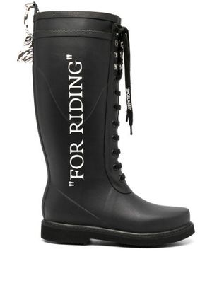 OFF WHITE - Riding Boots For