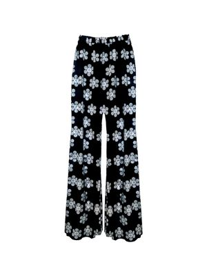 Phoebe Grace ALL NEW Peggy Palazzo Trouser in Black and White Daisy Twill