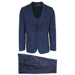 Paul Smith Navy Check Suit   47