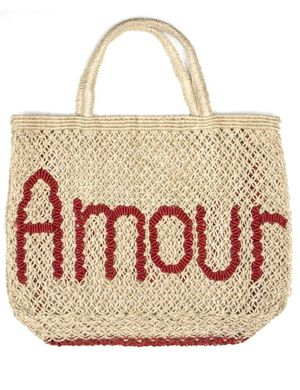Amour Bag – Natural and Red