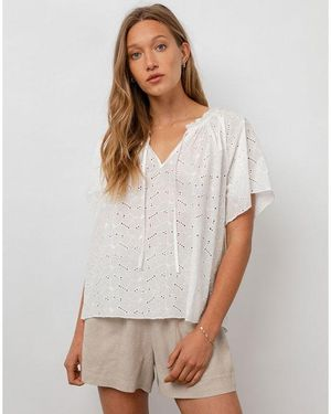 Marisol Embroidery Blouse White
