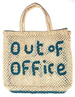 Out of Office Large Bag Natural Ocean