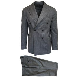 RF Sartori Grey Double Breasted Suit   493