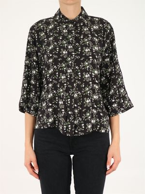 Cropped floral shirt