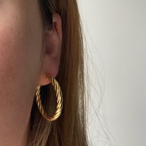 The Hoop Station La Modena Twisted Hoops - Gold
