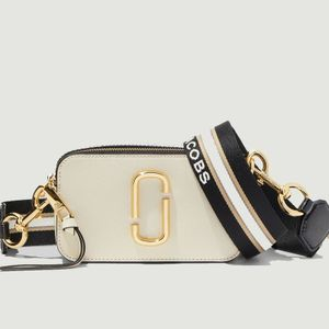 The Snapshot saffiano leather bag New cloud white multi Marc Jacobs (THE)