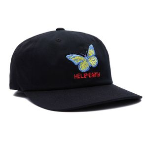 Obey Hell on Earth 6 Panel Strapback Cap - Black