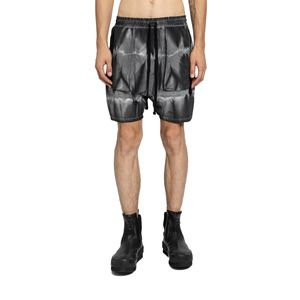 Black And White Marble Dye Shorts