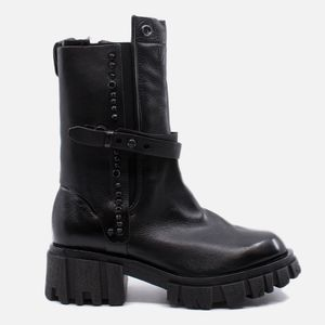 A.S.98 Black leather boots