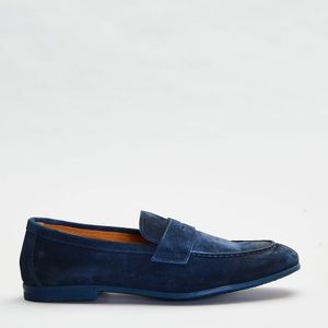 Doucal's Suede moccasin - Blue