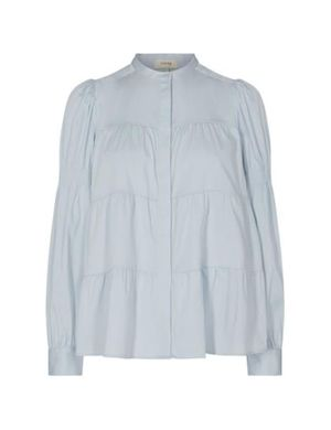 Levete Room Isla Solid Blouse - Blue