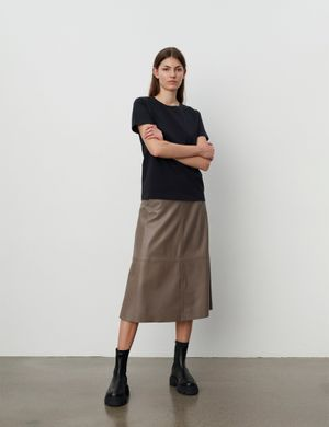 2ND Day - Marvin Refined Lamb Leather Skirt