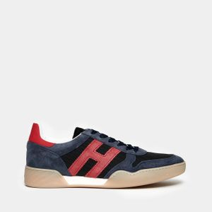 H357 sneaker in suede and blue technical fabric