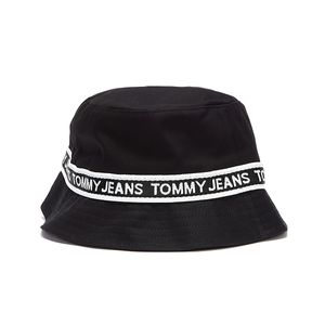 Tommy Jeans Repeat Logo Tape Womens Black Bucket Hat