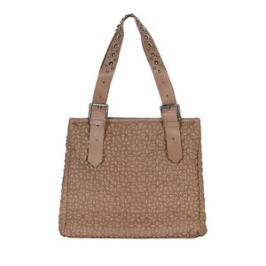 GUSTAV HARPER LEATHER BAG WITH STUDDED HANDLES IN NUDE
