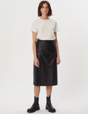 2ND Day - Marvin Refined Lamb Leather Skirt Black