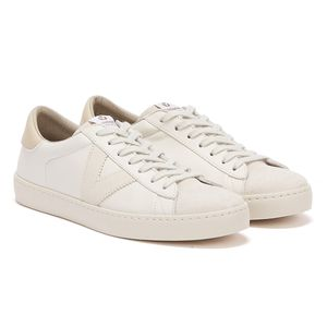 Victoria Berlin Contrast Leather Womens White / Grey Trainers