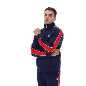 FILA Wicks Slim Fit Track Jacket - Peacoat/Chinese Red